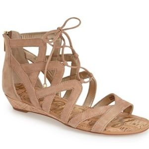 Sam Edelman Dawson Ghillie nude sandal